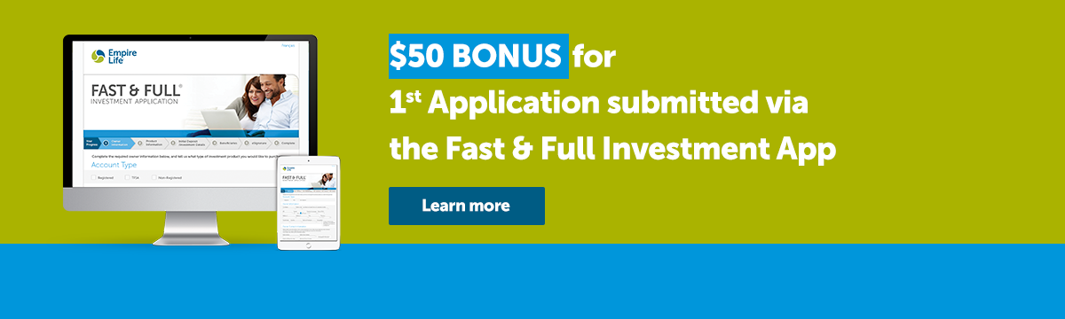 FF $50 Bonus For First Application - Advisor