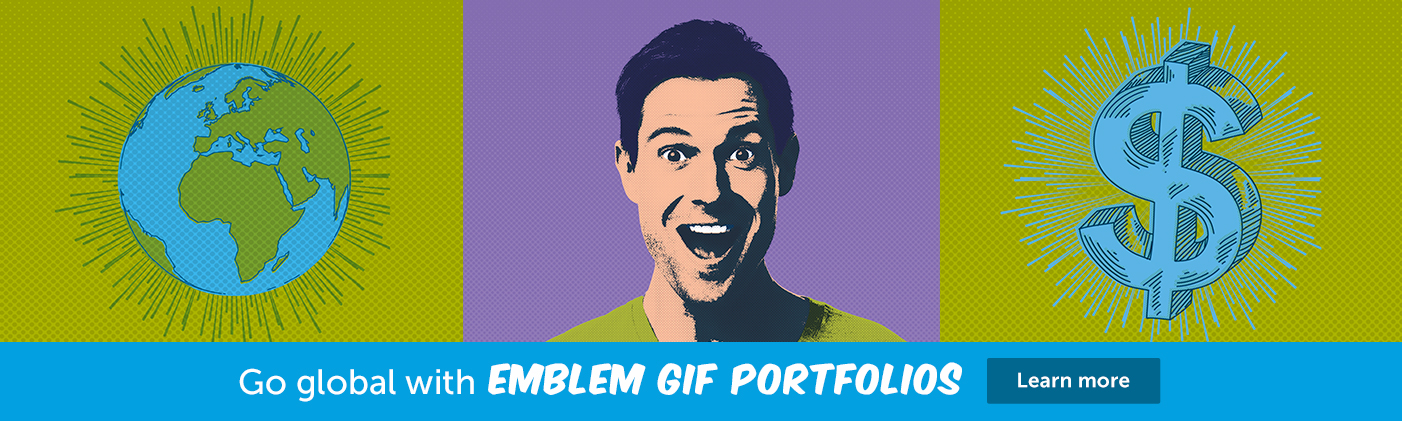 Go global with Emblem GIF Portfolios