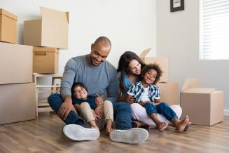Families with a new or existing mortgage
